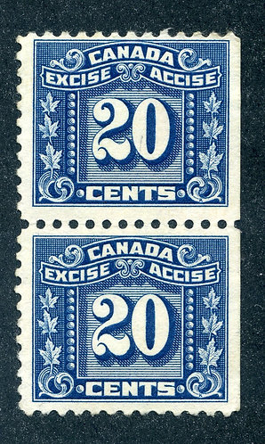 van Dam FX76 - Mint NHOG Vertical Pair - F & VF - Three Leaf Excise