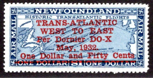 AM13 , NSSC, One Dollar and Fifty Cents, 1932 DORNIER DO - X, Newfoundland
