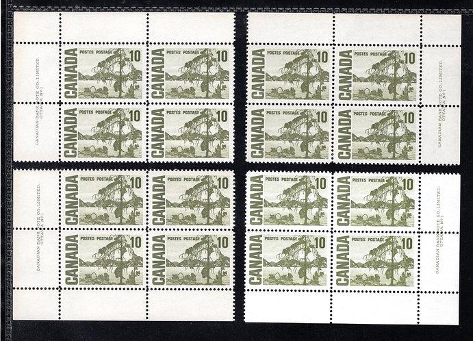 462Scott, Matched Plate Block Set, Plate 1, DF, DEX, MNHOG, VF, Centennial