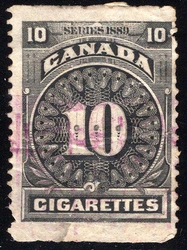 Ryan RC107 - Brandom C240 - Series of 1889, 10 cigarettes, used, black, coarse r