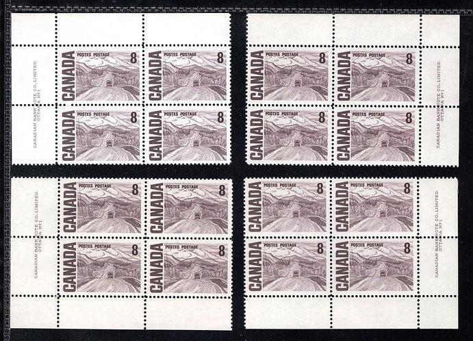 461 Scott, Matched Plate Block Set, Plate 1, DF, DEX, MNHOG, VF, Centennial