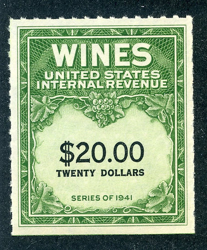 Scott RE181 - $20 - 1949 Wines - MNH - No Gum As Issued
