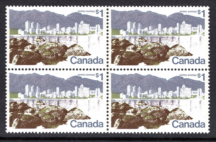 599ai Scott - $1, DF, VF, MNHOG, Vancouver Landscape Definitive 1972-77, Canada