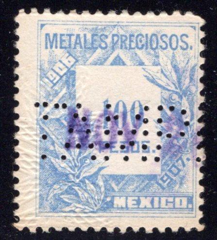 MP 48, Mexico, 100P, 1906-1907, Precious Metals / Metales Preciosos