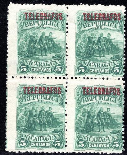 RH17,HS17,Type 5- 5 centavos - Mint - F - Nicaragua Telegraph Revenue