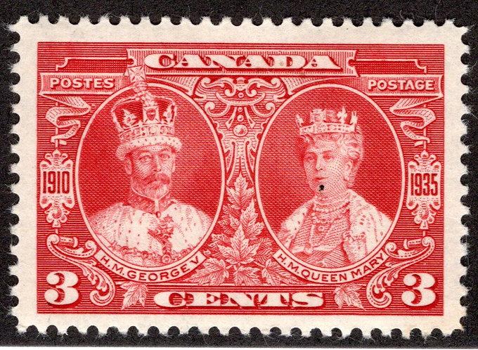 "213 Scott, 3c carmine, MNHOG, KGV ""Silver Jubilee"", VF,Canada Postage Stamp"