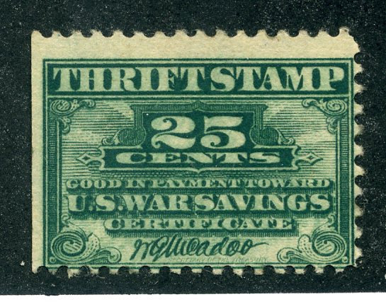 WS1 - War Savings - 25c green - Used