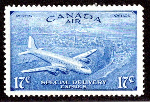 CE3, 17c, Special Delivery Air Mail Stamp, Incorrect Issue, MLHOG, F/VF, Canada