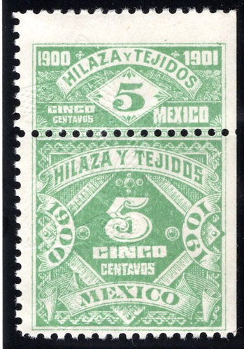 HT 48A, 5c, 1900-1901, Inscriptions and Numerals, Hilaza y Tejidos - Yarn and Te