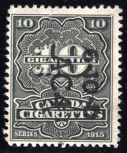 """Ryan RC234 - Brandom C312 - Series 1915, 10 Cigarettes, Die """"B"""" w/monogram, Used"""