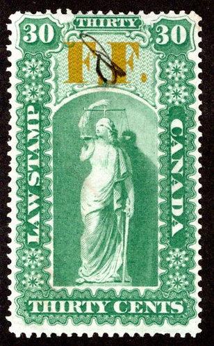 van Dam OL19, 30c used, F.F. (FeeFund), Raised Second Period Variety, Ontario L