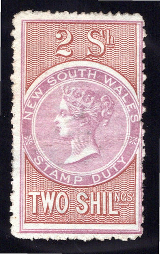 1894 NSW, 2/, compound perf 12.5x10, 3x price, wm reading down, tinted paper