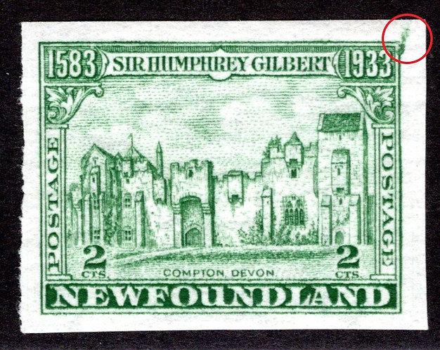 196d, NSSC, Newfoundland, Imperf, 2c, Compton, ERROR, Generous borders, MNHOG
