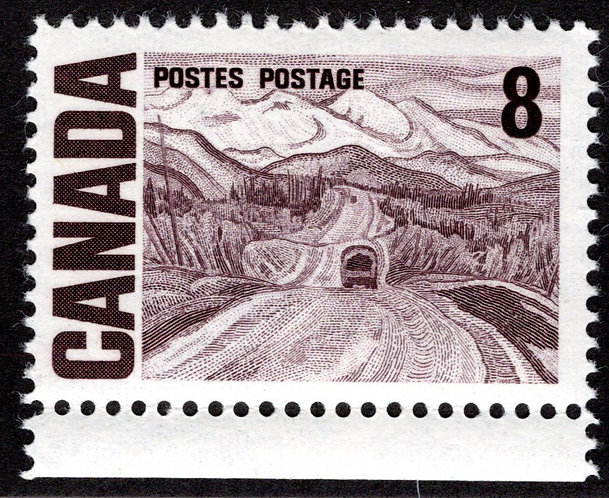 461ii, Scott, 25c,Dex, HB, HiBriteMNHOG, 1967-73 Centennial Definitives, Canad