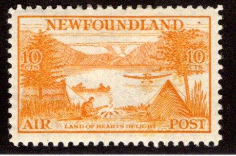 AM15, NSSC,10¢ Land of Hearts Delight, yellow orange, perf. 11.5, Newfoundland