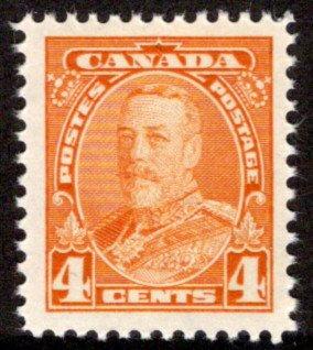 220, Scott, Canada, MNHOG, VF/XF, 4c, KGV Pictorial Issue
