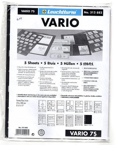 VARIO 7S Stamp Sheets (7 divisions) BLACK