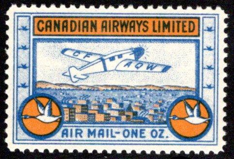 CL51, Canada, 10c , Canadian Airways Ltd.,MNHOG, XF/SUPERB, 1932