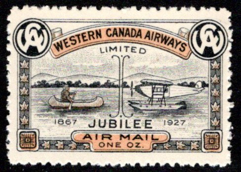 CL41- Western Canada Airways Jubilee Issue - MNHOG, Private Commercial Airway, B