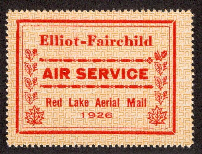 CL8, Canada, 25c, Elliot-Fairchild Air Service,1926, MNHOG, Private Commercial A