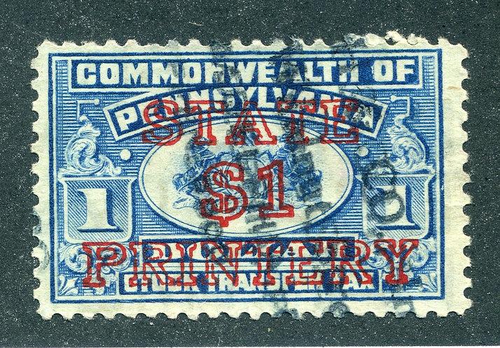 PA ST42 - $1 - Used - Pennsylvania Stock Transfer Tax