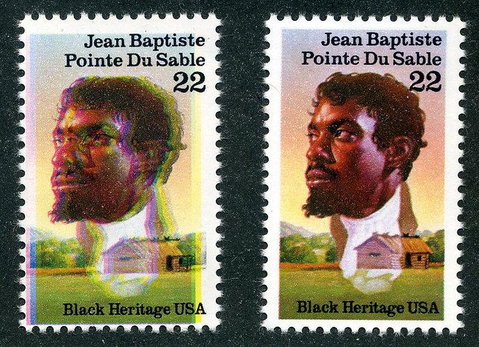 2249 USA - Color Shift Error - Black Heritage - Jean Baptiste - MNH