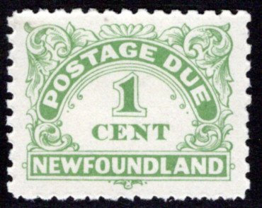 PD1 , NSSC, Newfoundland, 1¢ yellow green, Postage Due, MLHOG, p.10