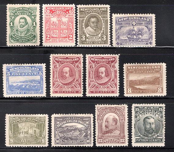"78-89, NSSC, ""Royal Family"", Newfoundland, Mint Set, F/VF, hinge remnants"