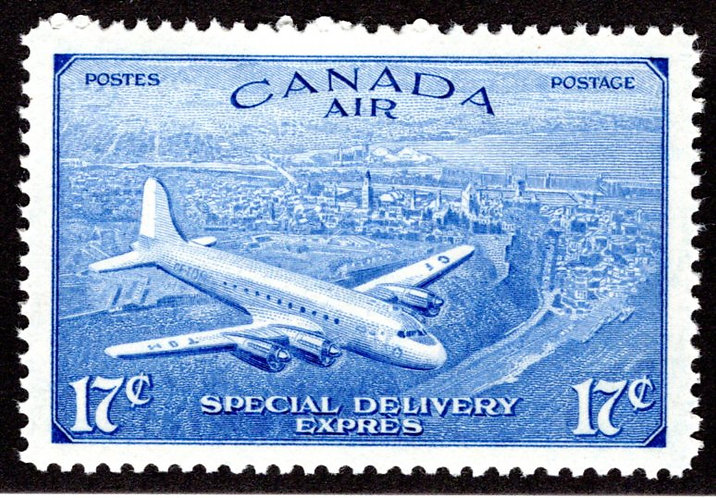 CE4, 17c, Special Delivery Air Mail Stamp, Revised Issue, MNHOG,VF