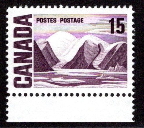 463iv, Scott,15c, DF, PVA, Greenland Mountains, MNHOG, Centennial Definitive