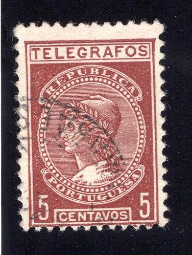 Portugal, H5, 1922, 5c, Used Telegraph / Telegrafos