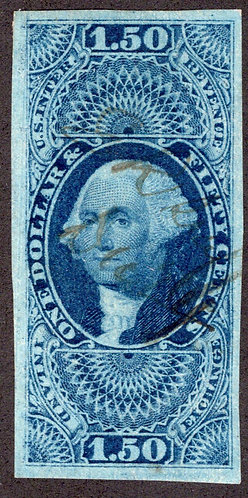 R78a - $1.50 - Inland Exchange- imperf - blue- used - ms cancel