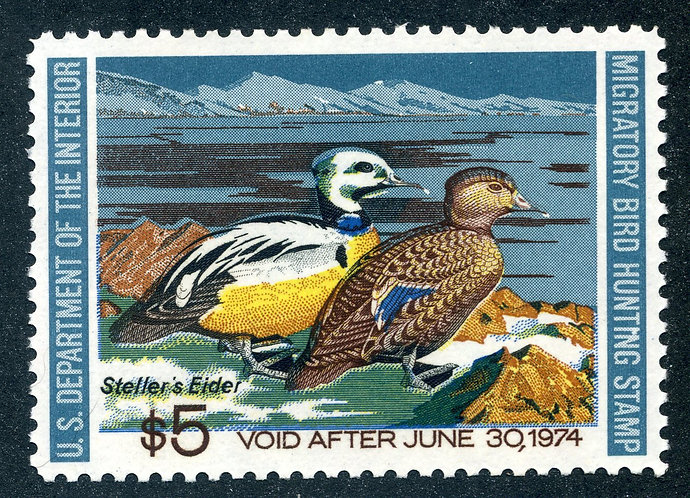 RW40 1971 US Department of the Interior - Wood Duck - $5 MNH Duck Hunting Stamp