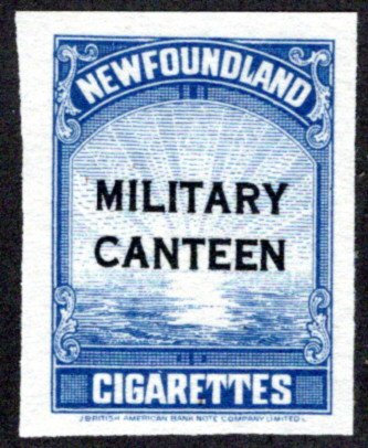 TB50a, NSSC, MILITARY CANTEEN (2 line overprint, black), blue, MNG NGAI