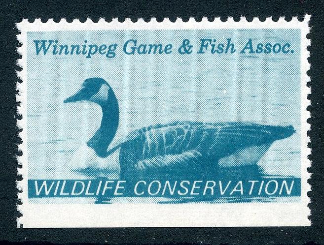 van Dam MWM1 - Winnipeg Game and Fish - perf variety - 11.8x12.5x12.5x imperf