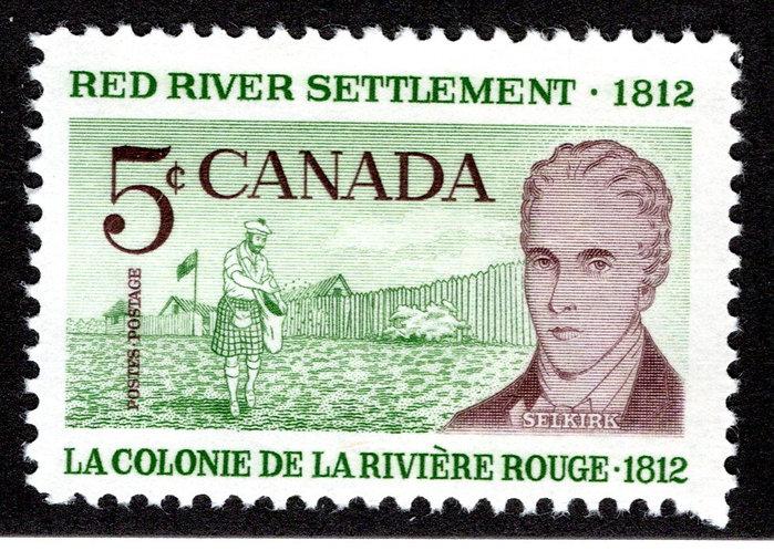 397ii, Scott, 5c, HB, MNHOG, VF, Red River Settlement, Canada Postage Stamp