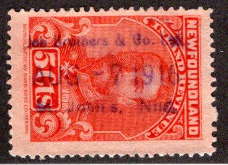 "R16, NSSC, Newfoundland, Canada, p.12 - Used - Canceled ""Job Brothers & Co. Ltd"