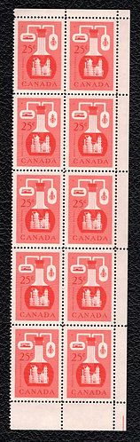 Scott 363, 25c red, 2 Corner Blocks, MNHOG, Chemical Industry, Canada