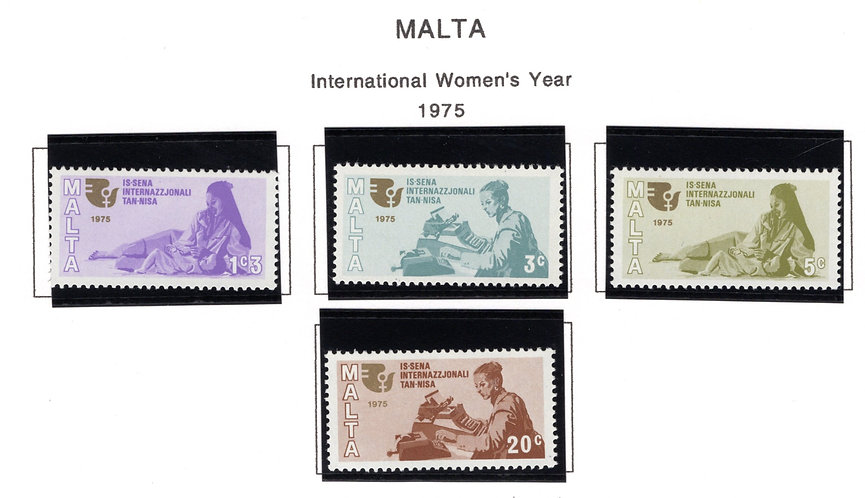 491-494 Malta, MNH Set, International Women's Year, 1975