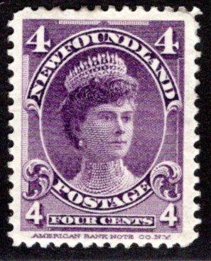75, NSSC, Newfoundland, 4¢ Duchess of York, violet, MLHOG, VF/XF, Scott 84