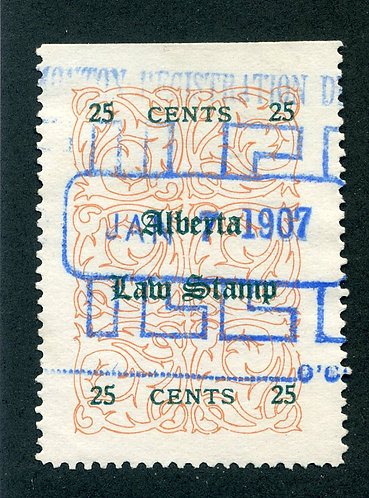 van Dam AL7 - CARIS: ABL7 - Used - 25¢ Alberta Law - red (green)  2017 C/V $25