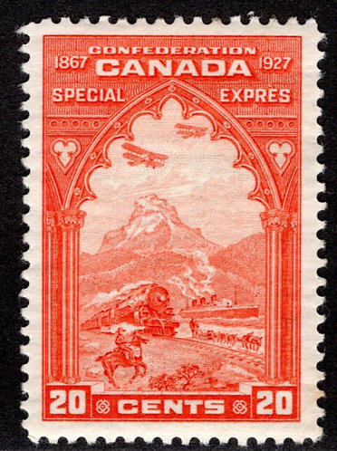 E3, 20c orange, Special Delivery - VF/EF - MLHOG, Canada BOB Stamp