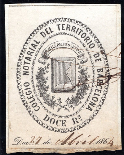 Spain, College of Notaries, #44, Barcelona, 3P, Legalizaciones, (188_)