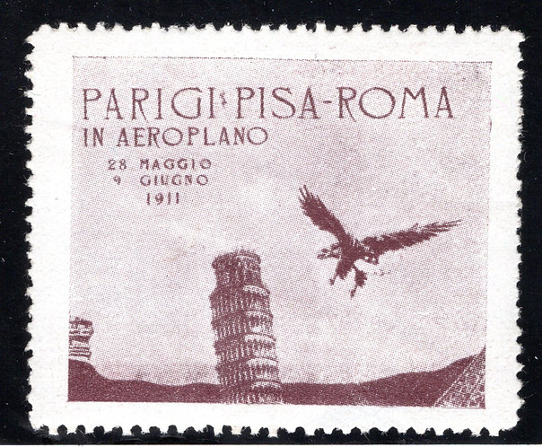 Paris Pisa Rome by Airplane, Aviation Cinderella, May 28-June 9, 1911, small thi