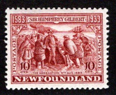 203, NSSC, Newfoundland, 10¢ , Gilbert, MLHOG, VF/XF, w/m pos 5, p.13.5, Scott 2