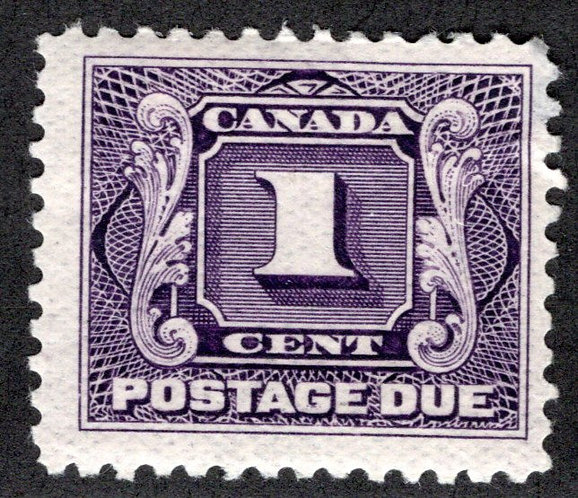 Scott J1, 1c, F, MLHOG, 1st issue, Canada Postage Due /BOB