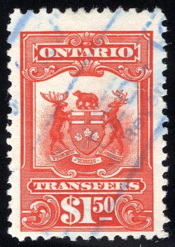 van Dam OST11 - Used - 1910-1926 Transfers - $1.50 red/scarlet