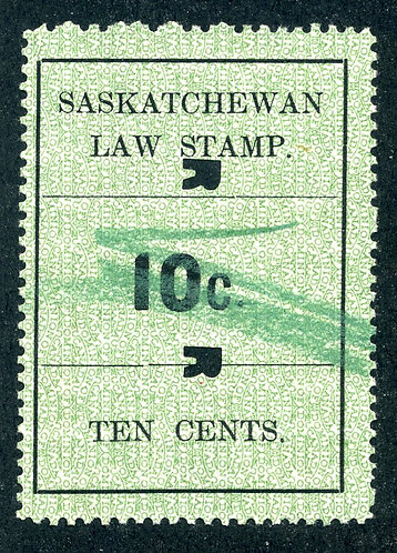 van Dam SL22 - Used - 1907 - Regina Cancel - Saskatchewan Law Stamp