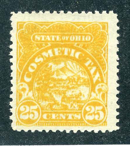 OH CSM9 - Mint NH - 25c - Cosmetic Tax - State of Ohio