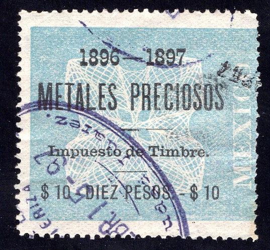 MP 7, Mexico, 10P, 1896-1897, Precious Metals / Metales Preciosos